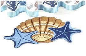 Seashell Bathroom Rugs Seashell Bathroom Rug Aqua Sea Shell Memory Foam Bath Rug Seashell
