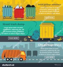 concept work truck urban trash work banner horizontal concept stock vector 632927252