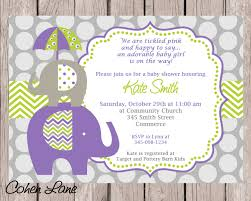 elephant invitation purple elephant invite elephant baby