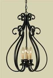 Wrought Iron Kitchen Light Fixtures Black Chandelier With 5 Lights In Classic Style Black Chandelier