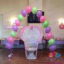 baby shower balloons string of pearl baby shower balloon arch partywithballoons
