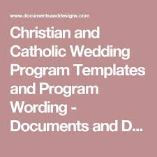 christian wedding program template 25 best clipart images on catholic marriage catholic