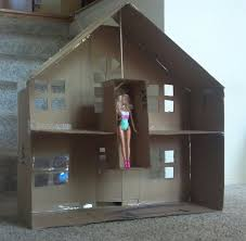 barbie house made from cardboard