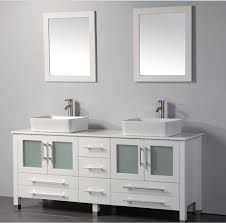 Bathroom Vanity With Vessel Sink by Mtd Malta 71 Inch White Double Vessel Sinks Bathroom Vanity Solid