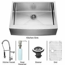 Kitchen Sink And Faucet Sets Stainless Steel And Glass Vessel - Kitchen sink and faucet sets