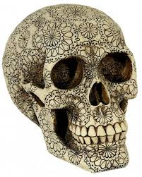 skull flower power skull with floral motif horror shop com