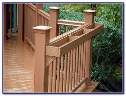 wooden planter boxes for decks decks home decorating ideas