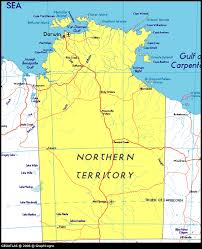 territories of australia map map of northern territory australia maps and atlas
