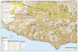 map of santa santa mountains national recreation area national