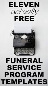 funeral programs online our favorite actually free funeral program templates urns