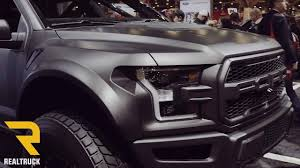 Ford Raptor Truck Black - 2017 ford raptor wide body matte black sema 2016 youtube