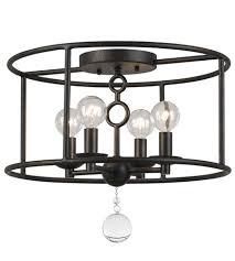 Bronze Semi Flush Ceiling Light by Crystorama 9267 Eb Cameron 4 Light 15 Inch English Bronze Semi