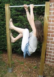 Diy Backyard Pull Up Bar by Garden Pull Up Chin Up Bar 6 Steps With Pictures