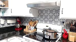 how to paint tile backsplash in kitchen paint a worthy faux tile kitchen backsplash stencil