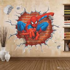 spider man fashion comic 3d solid wall stickers pvc waterproof cheap wall stickers best artificial wall vines
