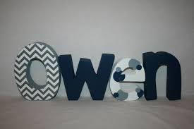 baby boy nursery letters wood letters 4 letter set