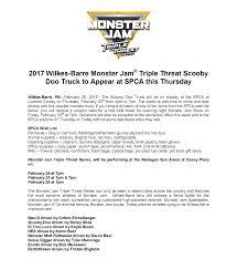 monster jam list of trucks wilkes barre monster jam triple threat scooby doo truck to appear