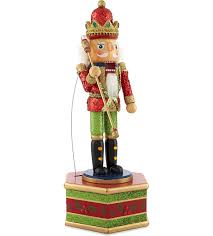 Gisela Graham Christmas Decorations Wholesale by Gisela Graham Wooden Glitter Nutcracker Soldier Christmas