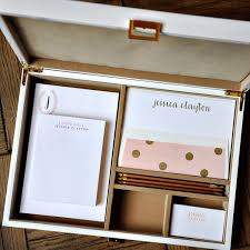 Customized Desk Accessories Haute Papier S Mix And Match Personalized Stationery Desk Set Is
