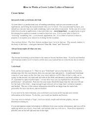 how to do a cover letter and resume bunch ideas of letter of interest vs cover letter with resume awesome collection of letter of interest vs cover letter also example