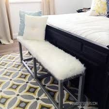 metal frame bench diy upholstered bench with faux metal frame sawdust sisters