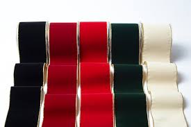 velvet ribbon wholesale 4 inch velvet ribbon with gold backing may arts wholesale ribbon