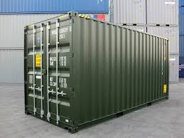20 u0027 hc green ral 6007 shipping containers