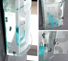 frosted glass cabinet for bathroom accessories storage w 3