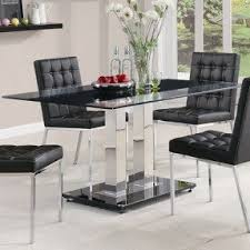 Glass Top Dining Table With Metal Base Foter - Metal dining room tables