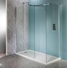 deluxe10 600mm wet room shower screen 10mm glass walk in panel