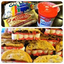 vampire teeth cookies need chocolate chip cookies slivered