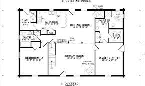 simple one story bedroom house plans floor plan enlarge house