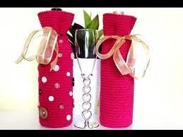 pattern for wine bottle holder crochet wine bottle cover crochet wine bottle bag youtube