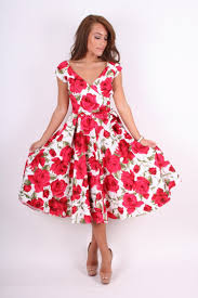 pretty dress the pretty dress company sorrento white print vintage