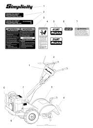 simplicity 1692877 516rt 5hp rear tine tiller parts diagrams