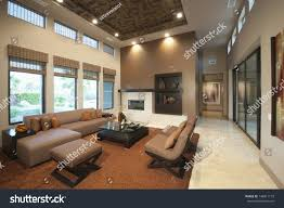 spacious living room spacious living room double height ceiling stock photo 148011173