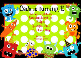 Invitations Cards For Birthday Parties Monster Birthday Party Invitations Theruntime Com