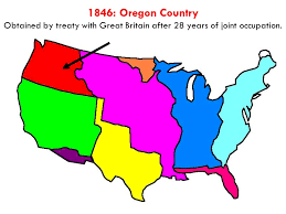 map of oregon country 1846 original 13 states territorial expansion be ready to label your