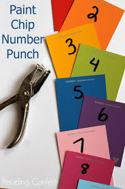 Paint Chips by Paint Chip Number Recognition Virtual Book Club For Kids