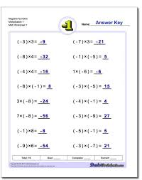 multiplication and division worksheet 35 solving inequalities