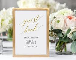 wedding guest sign in polaroid guest book etsy