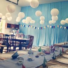 nautical baby shower perfect decoration for a garage party