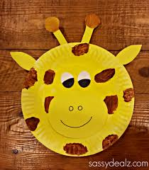 paper plate giraffe craft for kids crafty morning