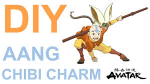diy polymer clay aang chibi avatar airbender