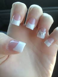my french manicure nails acrylic design nails pinterest