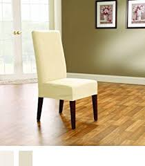 dining room chair slipcover amazon com sure fit suede shorty dining room chair slipcover