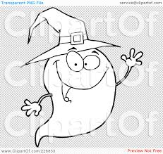 cute halloween ghost pictures royalty free rf clipart illustration of a coloring page outline
