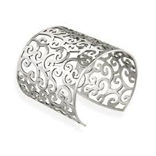 steel cuff bracelet images Mondevio stainless steel filigree design large cuff bangle jpg
