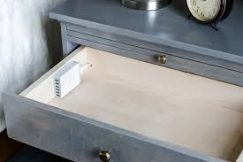 charging station shelf drawer nightstand with pull out shelf jewelry tray and charging