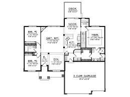 Free House Plans With Basements Eplans Ranch House Plan U2013 1884 Square Feet And 3 Bedrooms From